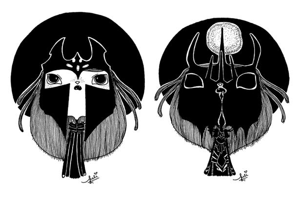 Desenhos de Morgoth e Sauron que fiz para o inktober 2014.