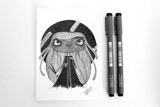 Inktober - Juliana Fiorese