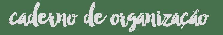 Caderno de Organização - Juliana Fiorese
